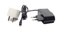 Power supply and adapter on white background Stock Image