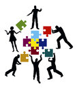 Power team concept for successful teamwork and collaboration Stock Images