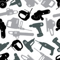Power tools gray pattern eps10 Royalty Free Stock Images