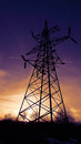 Power transmission line support Royalty Free Stock Photo