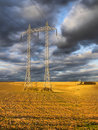 Power-transmission pole Stock Photography