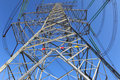 Power transmission tower Royalty Free Stock Photo