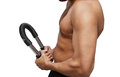 Power twister closeup of male fitness using Royalty Free Stock Photo