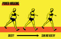 Power walking exercise illustration method to lose weight and get healthy Royalty Free Stock Photo