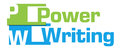 Power Writing Green Blue Abstract Stripes