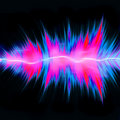 Powerful Audio Waves Stock Image