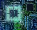 Powerful computer cpu Royalty Free Stock Photo