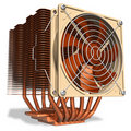 Powerful copper CPU cooler with heatpipes Royalty Free Stock Image