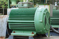 Powerful electric motors for modern industrial equipment close up Royalty Free Stock Photos