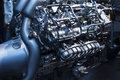 The powerful engine of a sport car Royalty Free Stock Photo