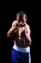 Powerful muscular boxer Stock Images