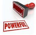 Powerful Stamp Word Strong Intese Forceful Quality Royalty Free Stock Photo