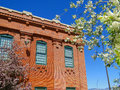 Powerhouse since the has been a historic landmark in boise idaho it is currently an event center and is shown framed with spring Stock Image