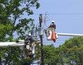 Powerline Maintenance Royalty Free Stock Photo