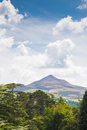 Powerscourt gardens co wicklow sugarloaf mountain in Stock Photos