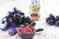 Powidl a close up photo of sweet fruits dessert plum jam also known as plum Royalty Free Stock Image