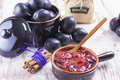 Powidl a close up photo of sweet fruits dessert plum jam also known as plum Royalty Free Stock Images