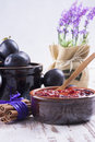 Powidl a close up photo of sweet fruits dessert plum jam also known as plum Stock Photos
