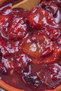 Powidl a close up photo of sweet fruits dessert plum jam also known as plum Royalty Free Stock Photos