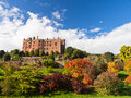 Powis Castle in Wales in Autumn Royalty Free Stock Photo