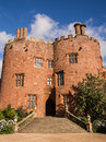 Powis castle in wales the western entrance to welshpool powys uk Royalty Free Stock Photo