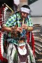 Powwow musician Stock Image