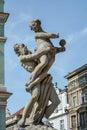 Pozan poland europe september fountain of proserpina in poznan on Royalty Free Stock Photo