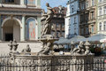Pozan poland europe september fountain of proserpina in poznan on unidentified people Stock Photos