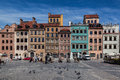 Poznan poland the colorful building facades in main square Stock Photos