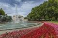 POZNAN, POLAND - JULY 09, 2016: The Grand Theatre (Opera), green Royalty Free Stock Photo