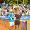 Poznan Porshe Open 2009 - Schukin-Luczak handshake Royalty Free Stock Photo