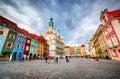 Poznan, Posen market square, old town, Poland. Royalty Free Stock Photo