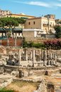 Pozzuoli ruins in town old Royalty Free Stock Photos