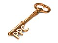 Ppc golden key on white background d render business concept Royalty Free Stock Photos