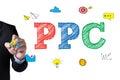PPC    Pay-Per-Click Royalty Free Stock Photo