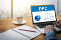 PPC - Pay Per Click concept Royalty Free Stock Photo