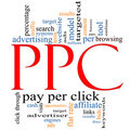 PPC Pay Per Click word cloud Royalty Free Stock Image