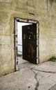 öppet fängelse för alcatrazdörr Royaltyfri Fotografi