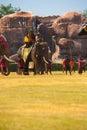 Príncipe Burmese Waiting Battle Elephant Foto de archivo libre de regalías