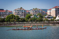 Practice for the Dragon Boat Festival Race Royalty Free Stock Photo