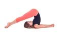 Practicing Yoga exercises / Plow Pose - Halasana