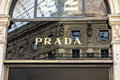 Prada milan shop closeup italy Royalty Free Stock Photo