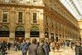 Prada shop in Piazza del Duomo gallery shop Royalty Free Stock Images
