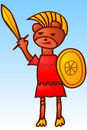 Praetorian bear graphic illustration of Royalty Free Stock Photography