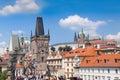 Praga charles bridge in repubblica ceca di praga Fotografia Stock