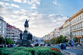 Praga city of place st venceslao Stock Photos
