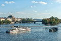 Praga cityscape of on the moldava Royalty Free Stock Photos