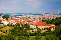 The Prague From Above Royalty Free Stock Image