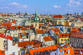 Prague aerial view of city architecture, Czech Republic Royalty Free Stock Photo