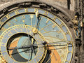 Prague ancient clock in unesco the czech republic Royalty Free Stock Images